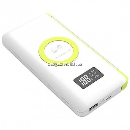 100% PINENG PN-888PD 10000mAh Quick Charge 3.0 Qi Wireless Polymer Power Bank with Built In Cable