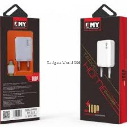 100% EMY (MY-223) Travel Home Charger 2.4A Max