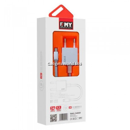 100% EMY MY-222 Travel Adapter 1A Max