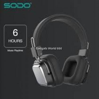 100% SODO SD-1003 Bluetooth 5 Dual Mode Wired Wireless Headphone AUX TF Card FM
