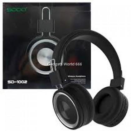 100% SODO SD-1002 Bluetooth 5 Dual Mode Wired Wireless Headphone AUX TF