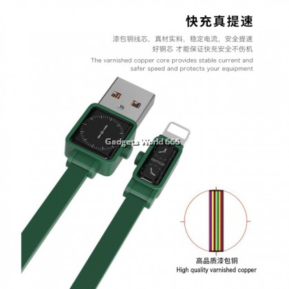 100% Remax RC-113i 2.4A Fast Charging Watch Data USB Cable Iphone