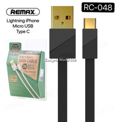 REMAX RC-048A GOLD PLATING TYPE C 3A FAST CHARGING