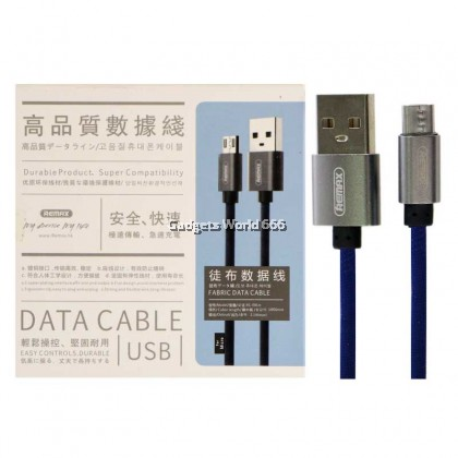 Remax Rc-091 Fabric Data Cable 2.1A  (1meter)