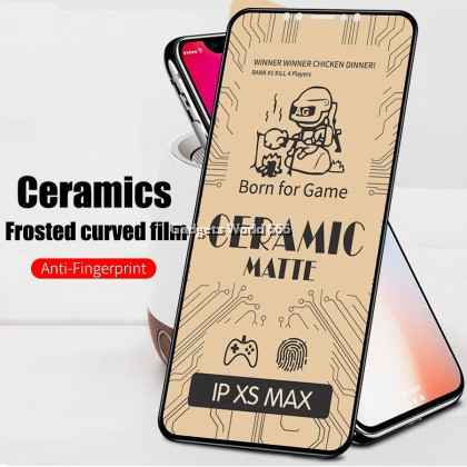 TEMPERED GLASS CERAMIC MATTE FULL FOR IP X/XS/XR/XS MAX