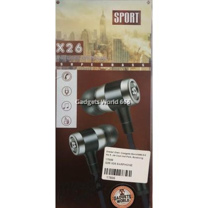 G36 SUPER BASS X26 EARPHONE