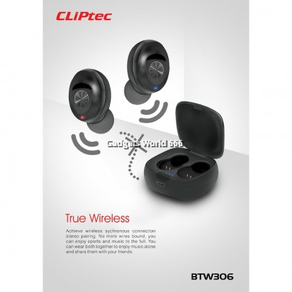 100% CLiPtec MINI BLUETOOTH TRUE WIRELESS STEREO EARPHONE BTW306
