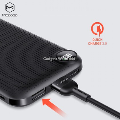 100% Mcdodo MC658 PD Charge + QC3.0 Quick Charge Certified 10000mAh Powerbank 2 x USB A + 1xUSB Type-C Power Bank