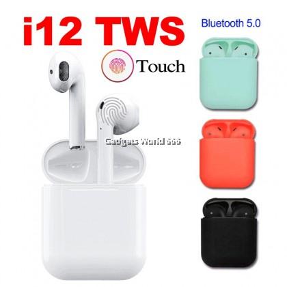 100% EARPHONE TWS BT-I12 COLORFUL TRUE WIRELESS STEREO ORANGE