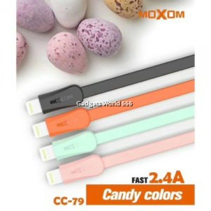 100%  MOXOM CC79 1 Meter 2.4A Candy Fast Cable For Lightning