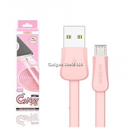100%  MOXOM CC79 1 Meter 2.4A Candy Fast Cable For Micro