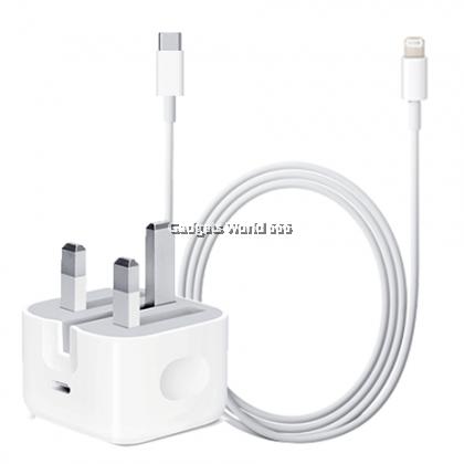 100% Apple 18W USB-C Power Adapter + USB-C to Lightning(1m) iPhone,iPad,MacBook