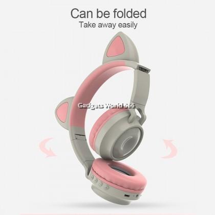 100% ZW-028 CAT EAR WIRELESS HEADPHONE