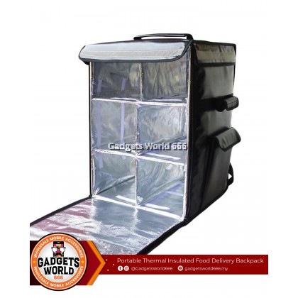 100% 42L Grab Food FoodPanda Thermal Delivery Bag Warmer Cooler Bag Large Capacity Rider Bag 42 LITRE