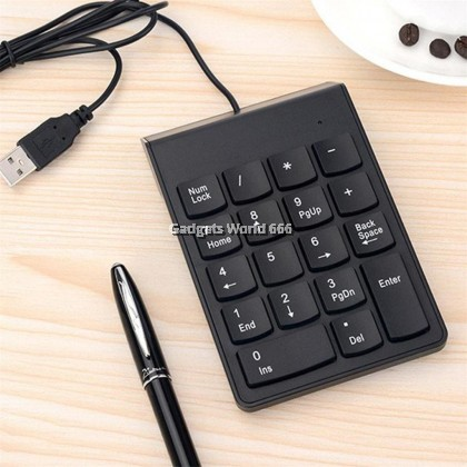 100 % New USB Mini 18-keys Num Pad Numeric Number Keypad Keyboard for Laptop Note