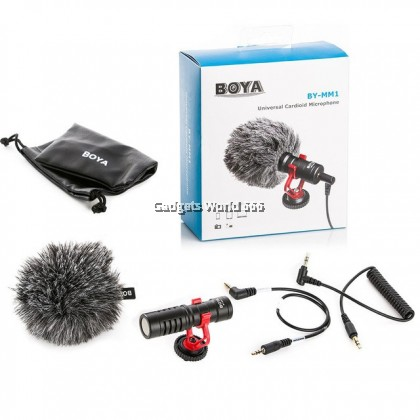 100% BOYA BY-MM1 Cardioid Microphone for Camera Smartphone