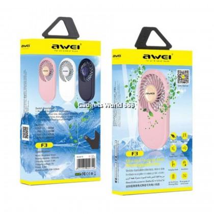 100% Awei F3 Mini Slim Portable Handy Fan (Rechargeable)