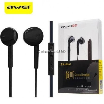 100% Awei ES15Hi Crystal Clear Stereo Headset with MIC for in-ear headphones