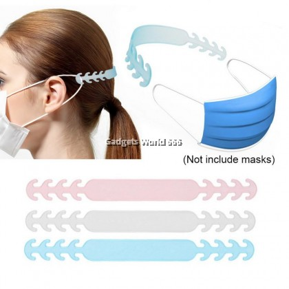 100% MASK ARTIFACT PLASTIC FACE MASK EAR HOOKS BUCKLE | EARBAND STYLE VARIABLE HEAD EXTENSION