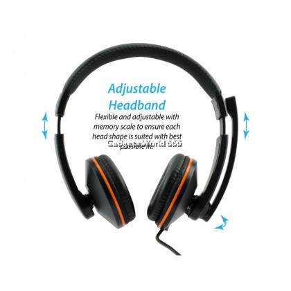 100% CLiPtec MOBIWAVE Dynamic Stereo Multimedia Headset-BMH519 (Black)