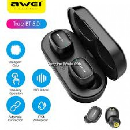 100% Awei T13 TWS Touch Control Smart BT Binaural Call Mini Wireless In-ear Earbuds Auto Connection Sport Earphone headset