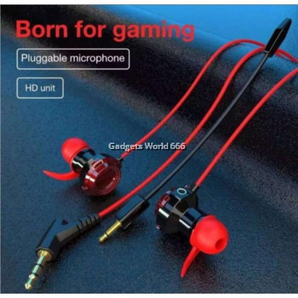 GAMING WIRED EARPHONE XG-120 HEADSET CLEAN AND BALANCED ACOUSTIC SOUND IN-EAR EARPHONE STEREO