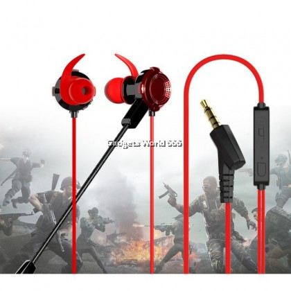 100% 100% ORIGINAL GAMING WIRED EARPHONE XG-120 HEADSET CLEAN AND BALANCED ACOUSTIC SOUND IN-EAR EARPHONE STEREO