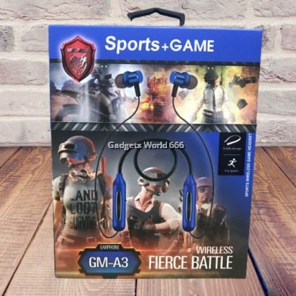 100% Sport A3 Gaming PUBG Earphone Headphone No Delay Bluetooth Wireless HD Sound