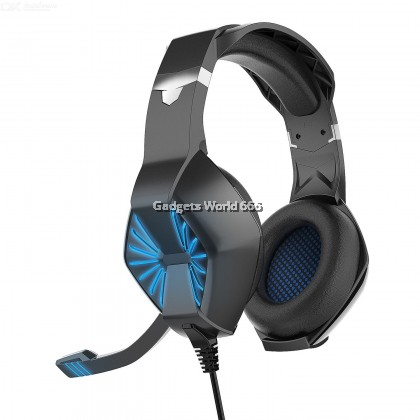 100% A1 Head Style Gaming Headset E-sports PS4 / Computer Headphone with LED Light Microphone Wire Control General