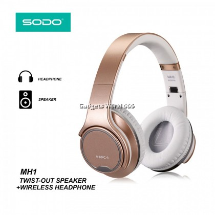 100% SODO MH1 NFC 2in1 Twist-out Bluetooth Speaker Headphone Wireless Headset