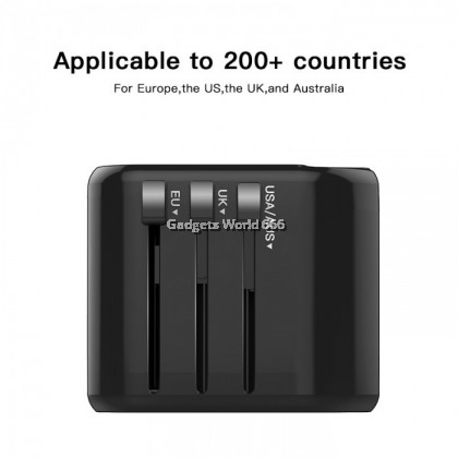 Moxom Universal Travel Charging Adapter 2 USB Port Fast Charging Global Applicable USA/AUS/EU/UK MX-HC24