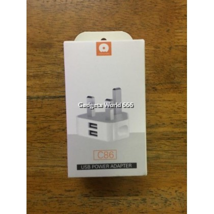 WUW C86 Dual port USB Power Adapter 2.4A Charger