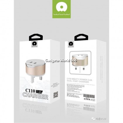 WUW C110 MIGHTY POWER 2.4A DUAL-PORT CHARGER FAST CHARGE