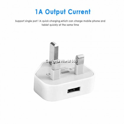100% USB POWER ADAPTER 1 PORT WALL CHARGER POWER ADAPTER