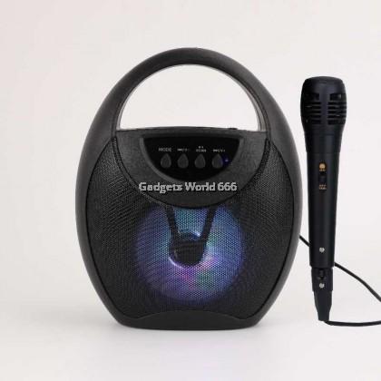 Fojax FJ-1314DW Karaoke Bluetooth Wireless Mini Speaker With FREE Mic