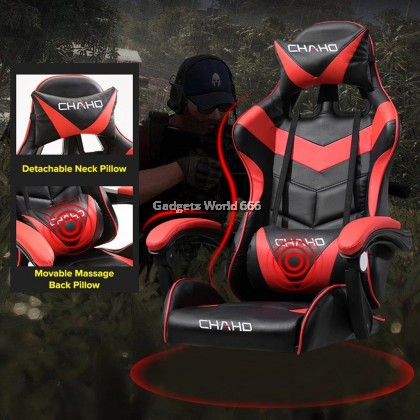 CHAHO Adjustable E-Sports Gaming Chair With Ergonomic Backrest and Seat Height Adjustment