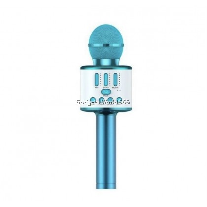 Q88 Wireless Microphone Handheld Karaoke Microphone With LED Light Singing And Recording Speaker Machine