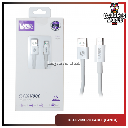 Lanex 4A SUPER VOOC Charge USB to Micro USB Data Cable 1M - LTC P02