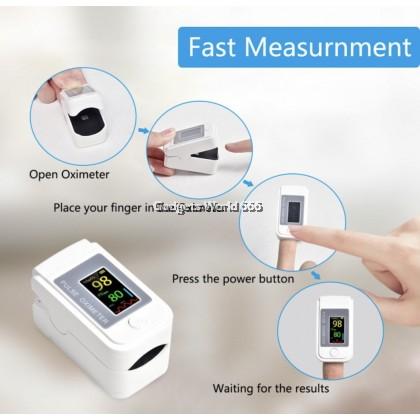 Fingertip Pulse Oximeter Heart Beat Monitor Sphygmomanometer LK89