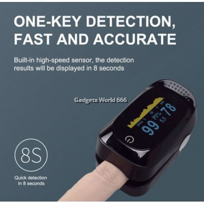 Fingertip Pulse Oximeter Monitor Oxygen Meter Heart Rate Spo2 PR Pulse A2 TFT LCD