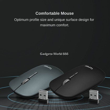 CLiPtec SLIMLINE AIR Ultra Slim Wireless Silent Multimedia Keyboard and Mouse Combo Set RZK350