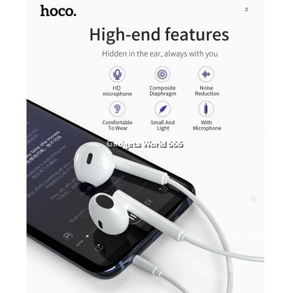 HOCO M64 MELODIUS WIRED CONTROL EARPHONE WITH MIC