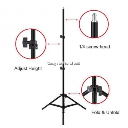 Portable 2.1m Tripod Stand Camera Stand Camera Stand Selfie tripod Phone Holder Bluetooth